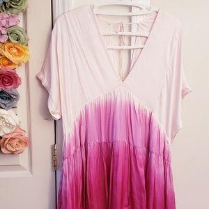 FREE PEOPLE Nwt$98 Tunic dress silk spring beach L